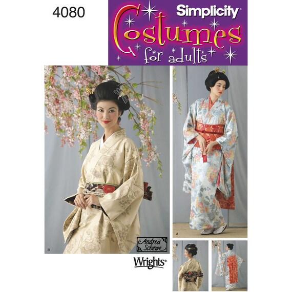 4080 Einfachheit Geisha Kimono Wrap Kleid Obi und Gürtel | Etsy