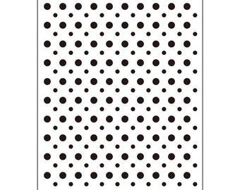 Darice® Embossing Folder - Polka Dot - 4.25 x 5.75, scrapbooking, card making, greeting cards, invitations and more