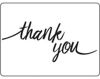 Darice® Embossing Folder - Thank you- 4.25 x 5.75,  scrapbooking, card making, greeting cards and more