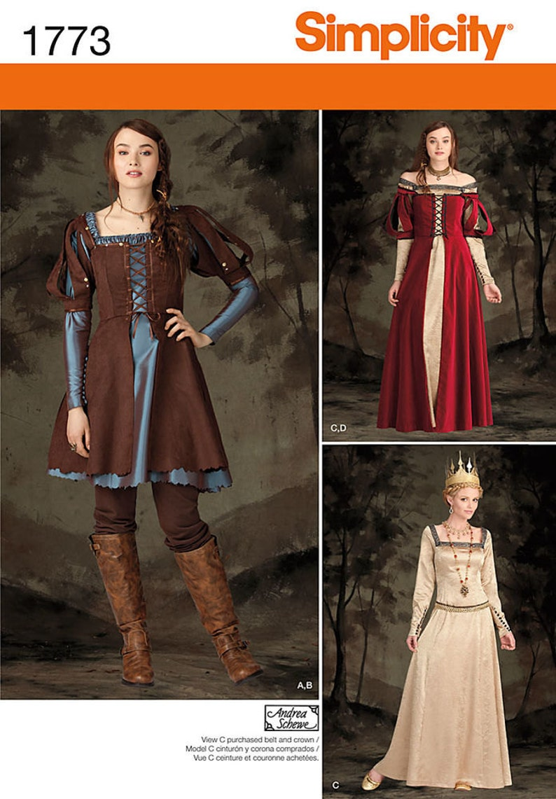 766ef26eb1a Simplicity 1773 Misses Medieval Fantasy Costume Queen