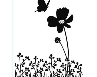 Darice® Embossing Folder - Butterfly on Flower - 4.25 x 5.75, scrapbooking, card making, greeting cards, invitations and more