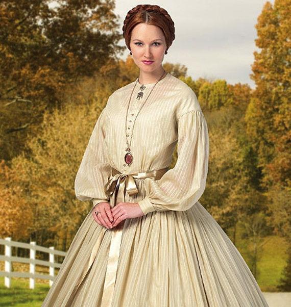 B5831 Raccolte vestito di Butterick donne con sottoveste  31acba582c9
