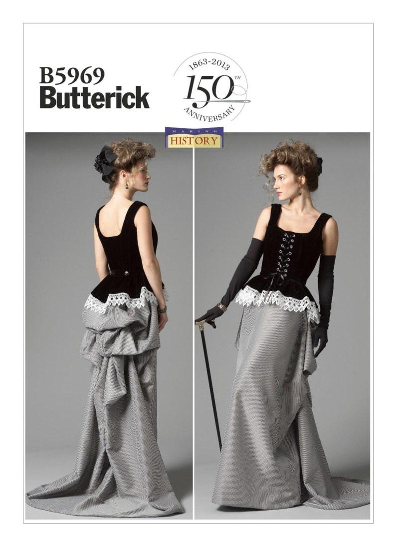 0c906d453ab7 5969 Butterick donna corsetto e gonna con trambusto fare