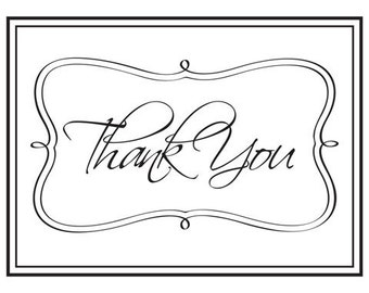 Darice® Embossing Folder - Thank You Framed - Script - 4.25 x 5.75, scrapbooking, card making, greeting cards, invitations and more
