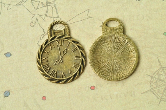 12 New Charms Round Tree Antiqued Bronze Tone Pendants Connectors 20x28mm