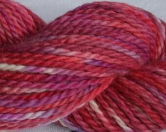 Blood Moon ~ 100g Chunky baby Alpaca, red, maroon, bulky yarn.