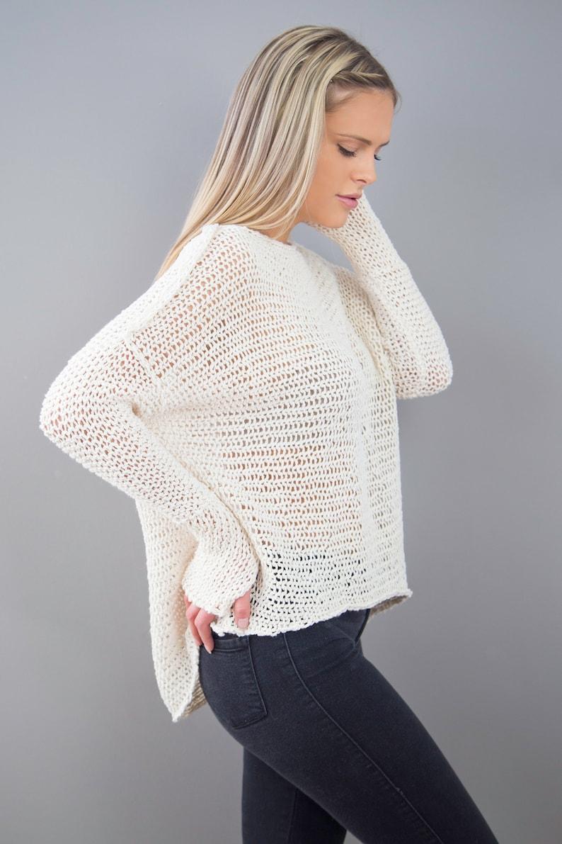 3e9476e7e Cotton Linen loose knit sweater .