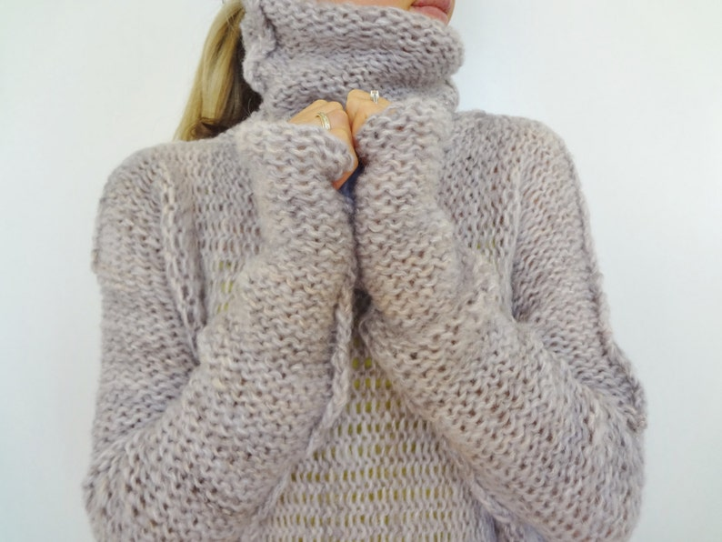 8d6a3516af50a7 Chunky Oversized women knit sweater. Slouchy Bulky Loose