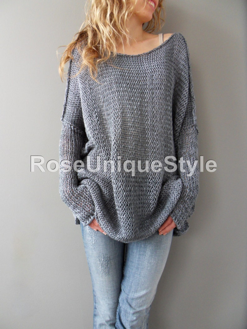 3f918d9b2289c Sweater Oversized Slouchy woman knit sweater. Cotton