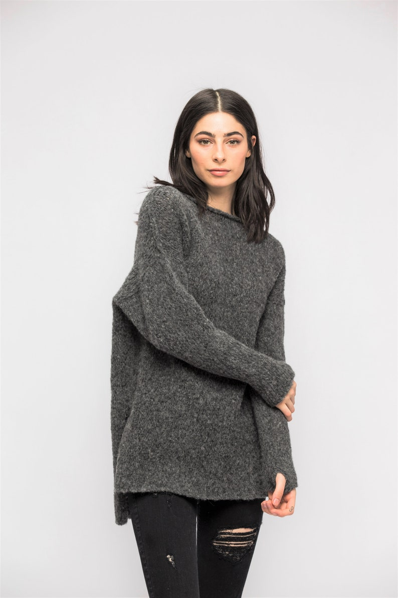 Loose  slouchy knit sweater Roseuniquestyle Knit sweater .Alpaca Oversized  knit woman  sweater pullover dress