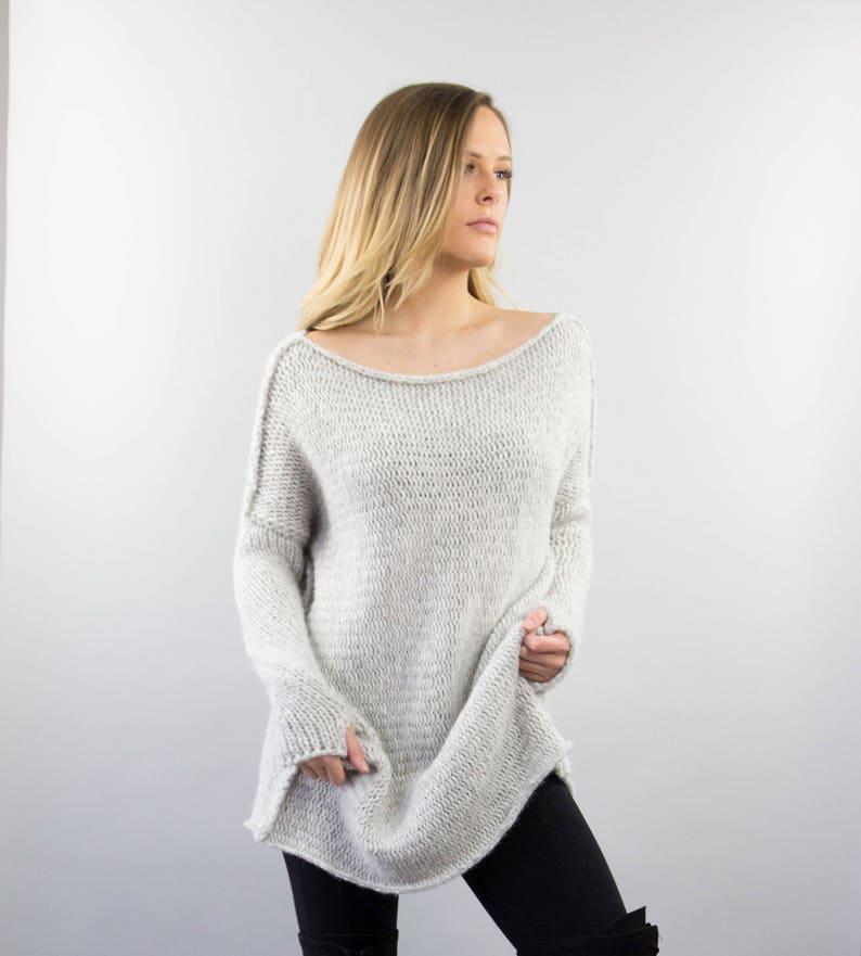 460277034459 Maglia per donna. Alpaca slouchy maglia maglione vestito.