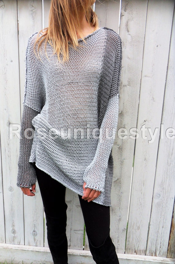 a166b17a266 Loose Oversized Slouchy knit sweater dress . Chunky loose