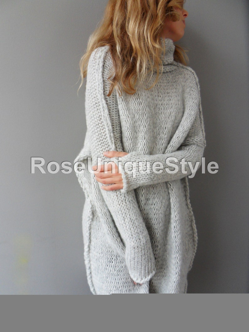 9fae6d731 Oversized Chunky knit Alpaca woman sweater Roseuniquestyle