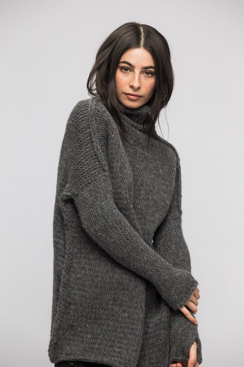 26d3ddb7dc297 Oversize Chunky knit sweater for women.