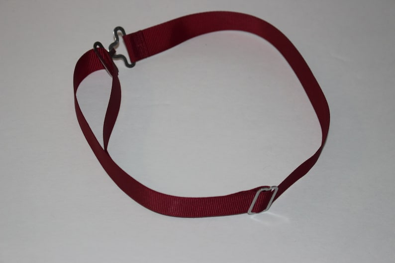 Wine \u2022 Burgundy Textured Pre-Made Adjustable Straps for Bow Ties  Bowties