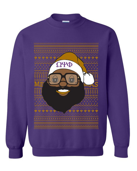 Omega Psi Phi Ugly Christmas Sweater Etsy