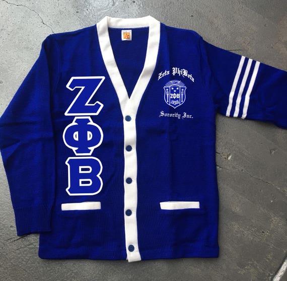 Zeta Phi Beta Aplus Varsity Cardigan Etsy