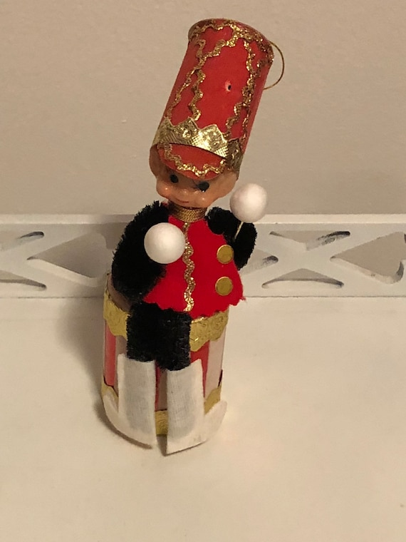 Christmas Drummer.Vintage Christmas Little Drummer Boy Ornament Japan