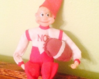 Vintage Christmas Elf Noel 25 Football Player