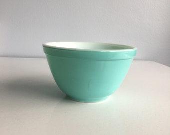 Vintage Pyrex Turquoise Mixing Bowl #401 1 1/2 Pint