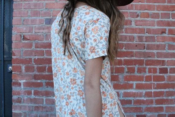 Floral Printed Flowy Dress, retro clothing, vintag