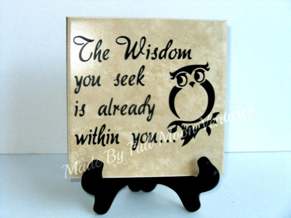 Decorative Tile The Wisdom You Seek Is Already Within Etsy