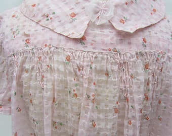 Antique 30's little girls dress peach traditional age 4-5?