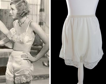 b28c440f7 vintage new 1950 s cami knickers panties ivory rayon
