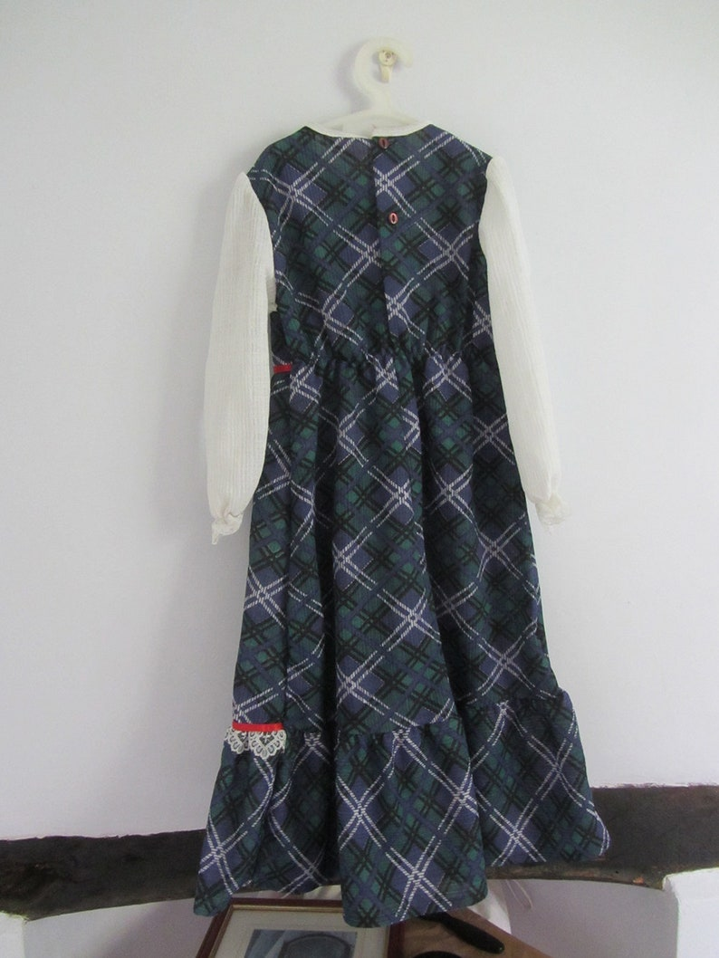 70/'s girls tartan Scottish outfit costume dress age 2-3 Burns night