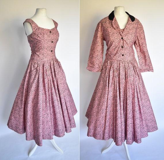Horrockses Vintage 50's 2 piece dress jacket  salm