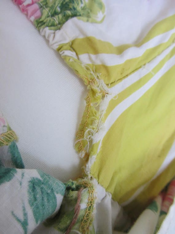 vintage 50's swimsuit yellow floral sundress skir… - image 7