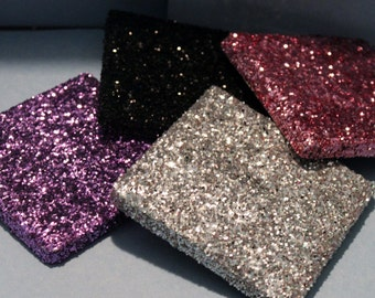 Set of 4 Glitter Coasters - Choose your own colors