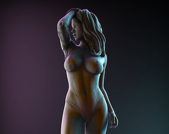 Augmented Beauty Statue Diorama | High Detail Multi Part Resin Kit-Femme Fatale Fantasy-Resin 3D Printed by Ritual Casting (1:10 scale)