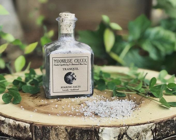 Tranquil Soaking Salts • Lavender + Sandalwood • Mineral Rich Detoxifying Blend • Vegan Bath Salts