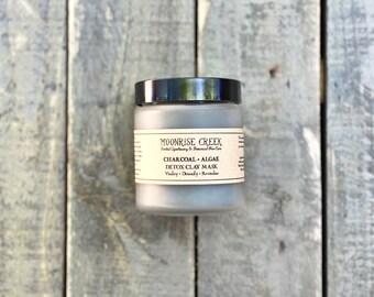 Charcoal + Algae Detox Clay Mask • Vitality + Detoxify + Revitalize • Skin Detox Facial Care • Acne Care • Oily Skin • Vegan • Cruelty Free