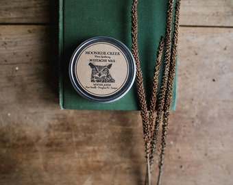 Mustache Wax • WOODLANDS  Pine Needle • Douglass Fir • Juniper • Tangerine • Men's Apothecary • Beard & Hair Wax