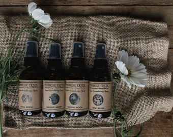 Lunar Aromatherapy Sprays • Set or Individual • New Moon • Waxing Moon • Full Moon • Waning Moon • Perfume to inspire during the lunar cycle
