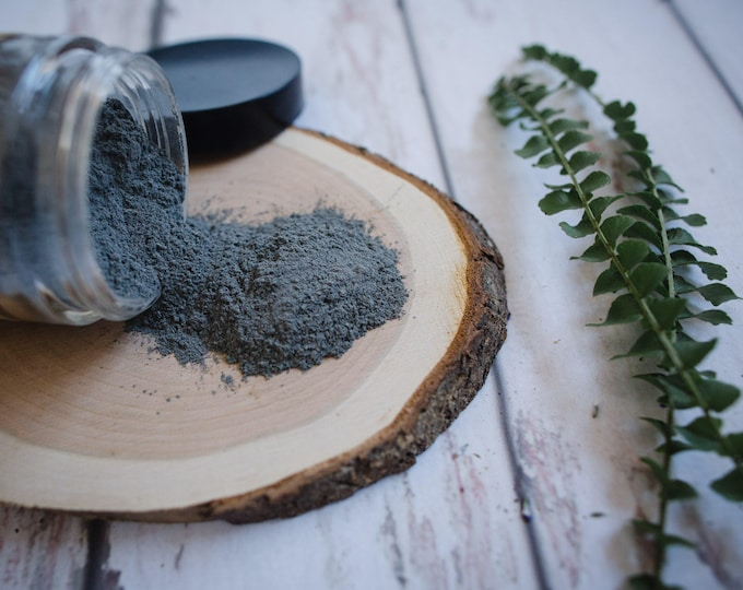 SAMPLE • Charcoal + Algae Detox Clay Mask • Vitality + Detoxify + Revitalize • Skin Detox Facial Care • Acne Care • Oily Skin • Vegan • CF