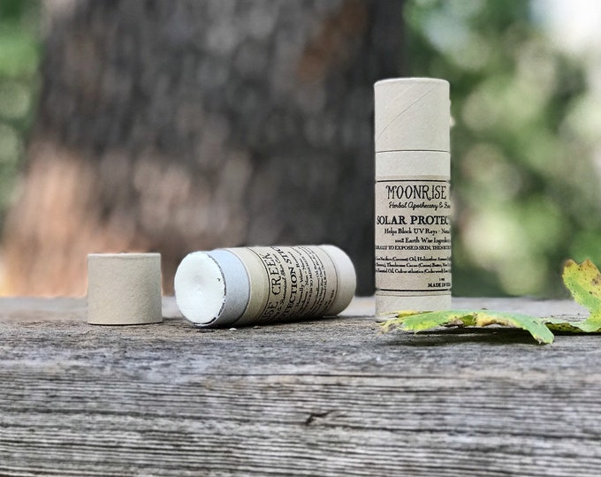 Solar Protection Salve • Helps Block UV Rays • Naturally Water Resistant • 100% Earth Wise Ingredients • Non - Nano • Sunscreen • S