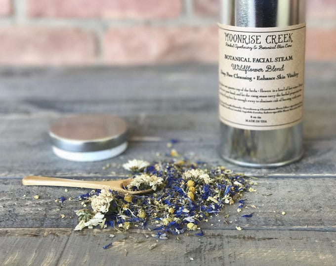 Botanical Facial Steam • Wildflower Blend • Deep Pore Cleansing + Enhances Skin Vitality