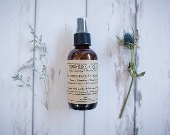 Soft Rose Face Astringent • Rose + Lavender + Rosewood • Gentle Nourishing Tonic for All Skin Types