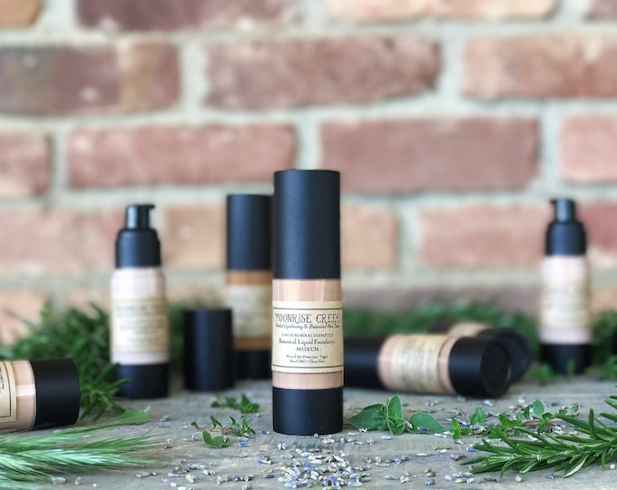 Featured listing image: Liquid Foundation • Botanical Blend • Natural Sun Protection • Earth Mineral Cosmetics • Vegan + Organic + Cruelty Free + GMO Free + GF