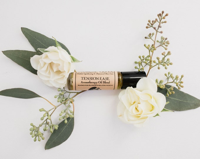 TENSION EASE • Aromatherapy Roll On Blend • For Headaches, Aches & Pains • Relaxes Muscles and Stimulates Blood Flow