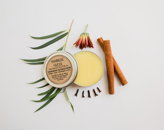 Warming Muscle Rub • An Herbal Salve • Mint + Cinnamon + Clove