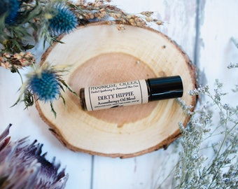 "DIRTY HIPPIE • Aromatherapy Roll On Blend • Spread The Love + Smell Like The Earth + Just 'Be"" • Rich + Earthy + Woodsy"