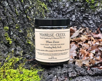 Moon Dance Grounding Body Scrub • Wildflowers + Nourishing Oils + Raw Organic Sugar + Lush Essential  Oils • Vegan + Organic + Gluten Free