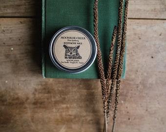 Mustache Wax • WOODLANDS  Pine Needle • Douglass Fir • Juniper • Tangerine • Men's Apothecary • Beard & Hair Wax