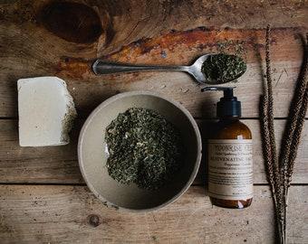 SAMPLE • Rejuvenating Face Wash • Cooling & Refreshing Blend for all Skin Types  • Peppermint + Lavender • Excellent for Acne Prone Skin