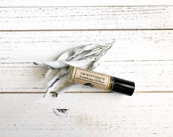 SACRED DAWN • Aromatherapy Roll On Blend • Awaken Your Happy & Cleanse Your Soul • Cleansing Sage + Crisp and Refreshing Citrus