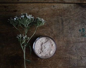 SAMPLE • MATTE Foundation Powder • Earth Mineral Cosmetics • Natural Makeup • Vegan • Loose Powder •  Connect To The Earth + The Planet